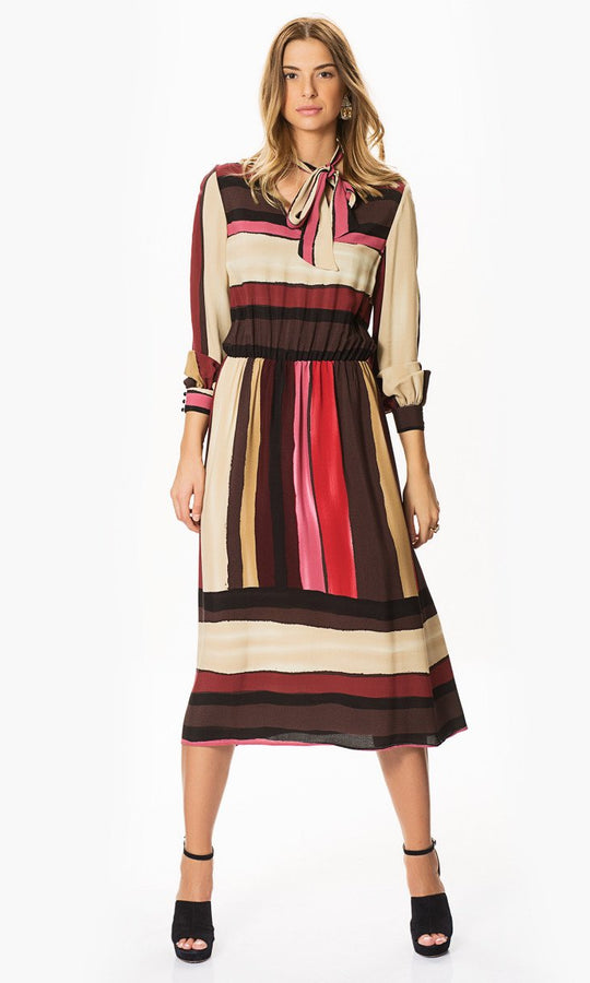 Apparel - Colorful Striped Dress