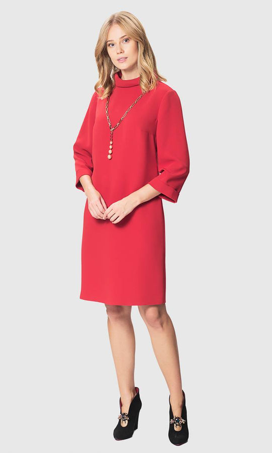 Apparel - CUFFED SLEEVE SHIFT DRESS