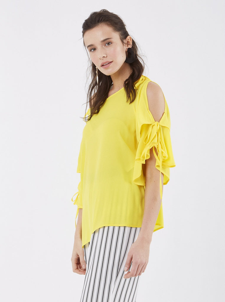 Apparel - CUT-OUT SLEEVE BLOUSE