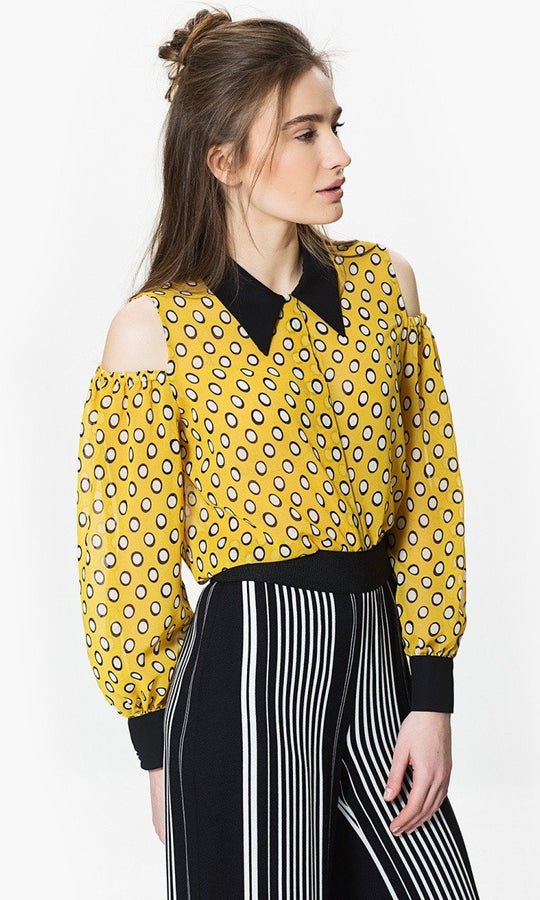Apparel - CUT OUT SLEEVE BLOUSE