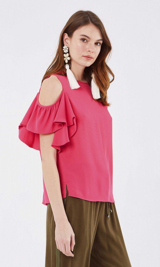 Apparel - DROPPED SHOULDER BLOUSE
