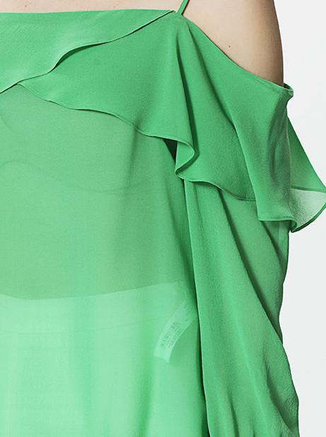 Apparel - DROPPED SHOULDER TOP WITH RUFFLE