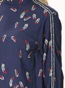 Apparel - Feather Print Blouse