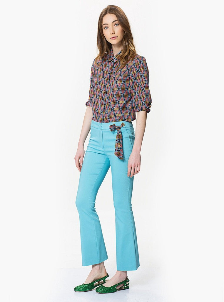 Apparel - FLARE PANTS WITH BOW