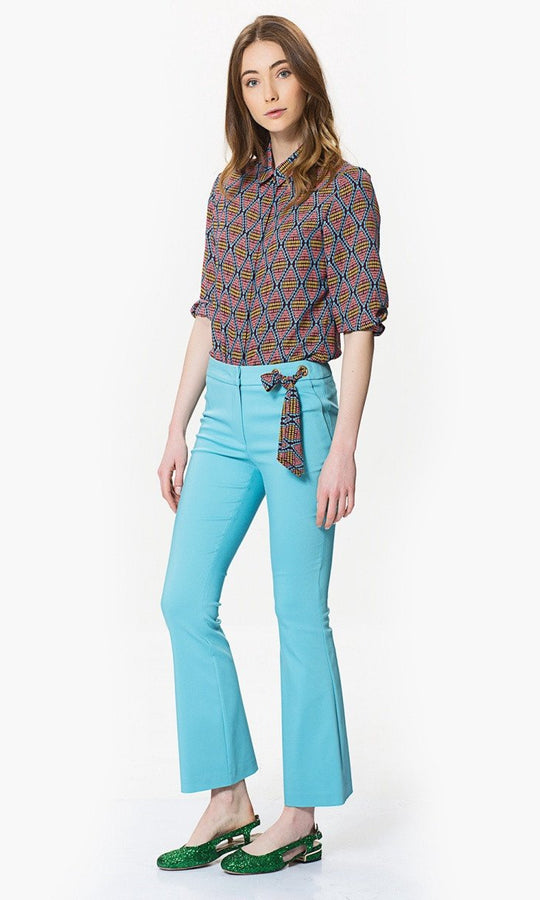 FLARE PANTS WITH BOW