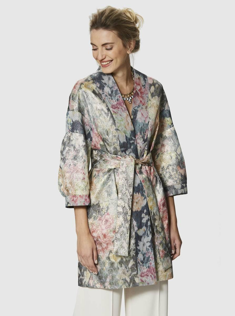 Apparel - FLORAL JACKET WITH BELT