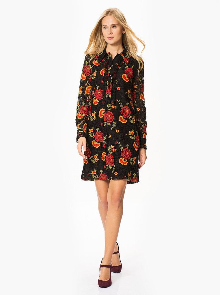 Apparel - FLORAL LACE DRESS