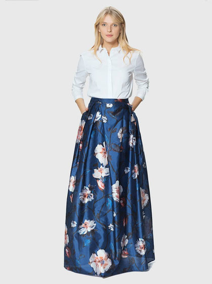 Apparel - FLORAL LONG SKIRT