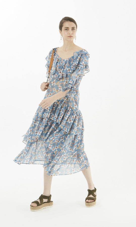 Apparel - FLORAL MIDI DRESS