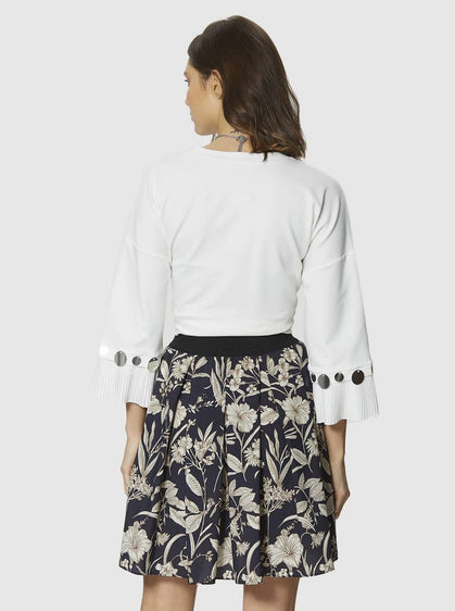Apparel - FLORAL MINI SKIRT
