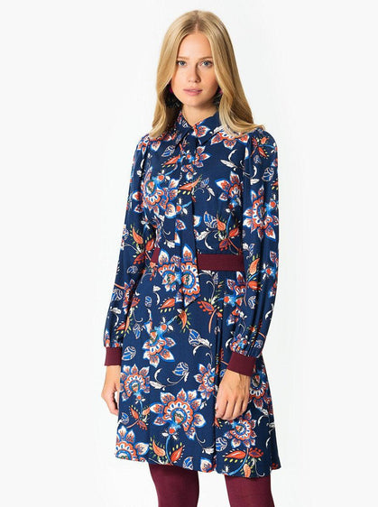 Floral Lantern Sleeve Minidress