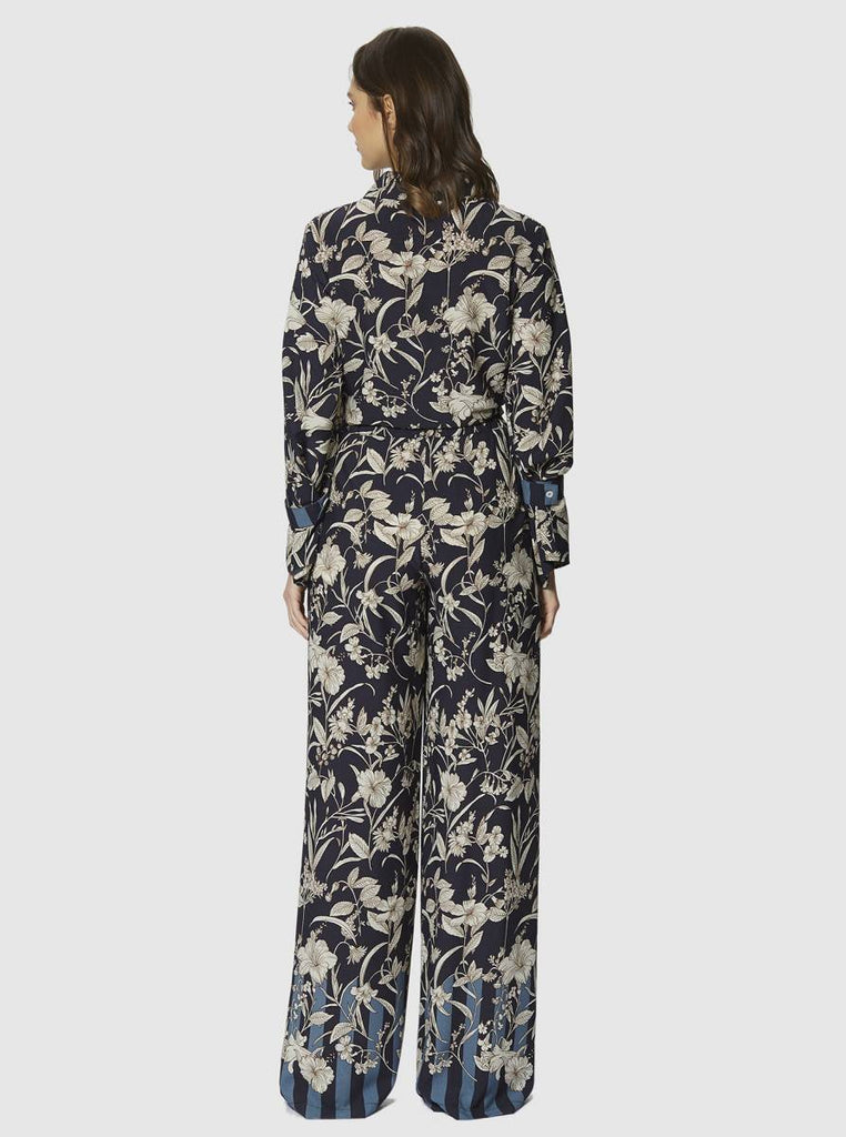Apparel - FLORAL WIDE LEG PANTS