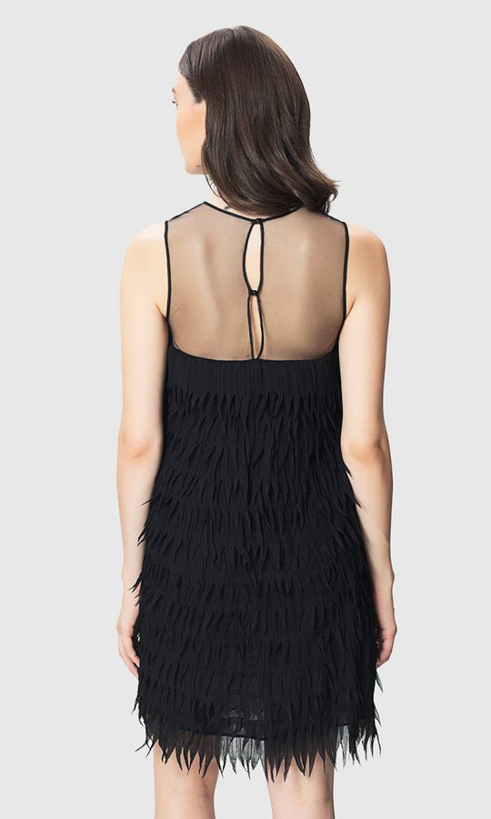 Apparel - FRINGE BLACK DRESS