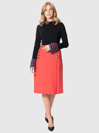 Apparel - FRONT BUTTON SKIRT