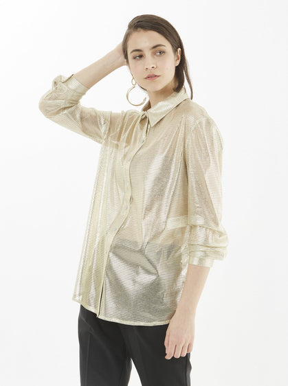 ROMAN USA-GOLDEN BLOUSE-- [LIGHT - CAMEL]