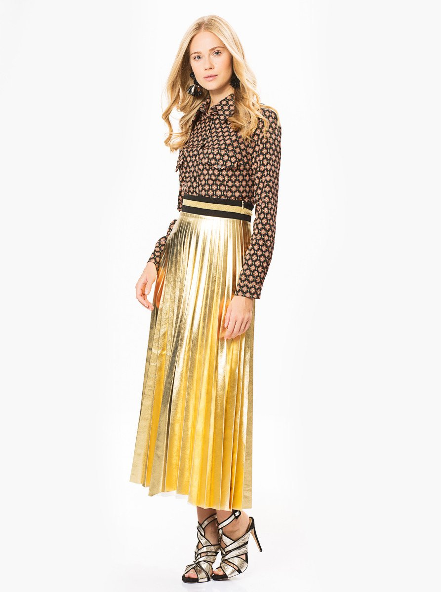 5869c72d0913c8 Full Size Apparel - Gold Pleated Skirt