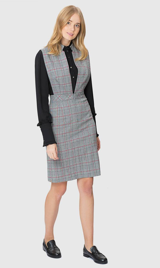 Apparel - GREY PLAID DRESS