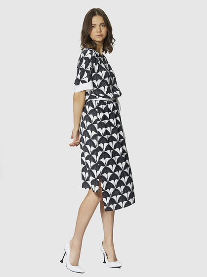 HIGH - LOW PRINT DRESS