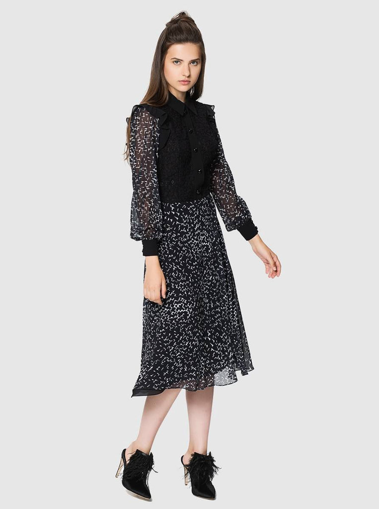 Apparel - LACE DETAILED MIDI DRESS
