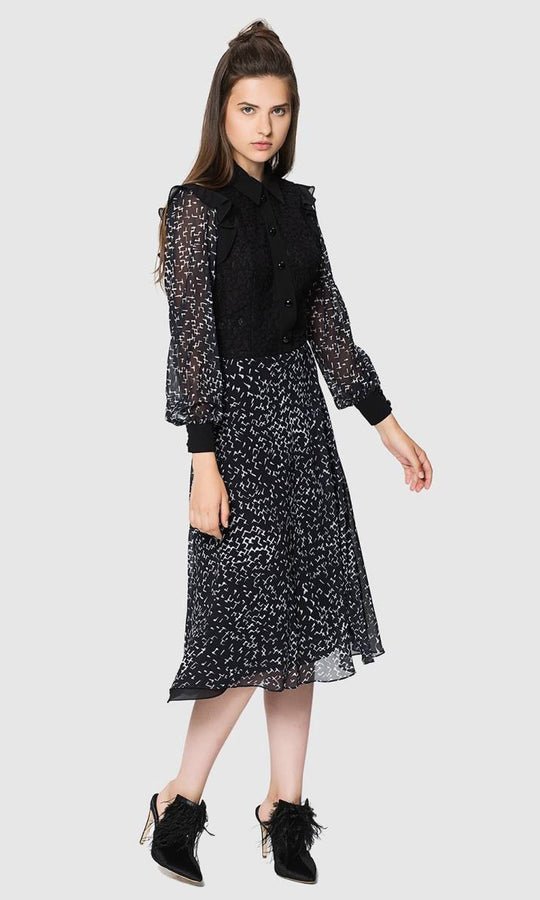 LACE DETAILED MIDI DRESS
