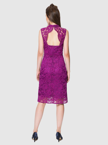 Apparel - LACE FUCHSIA DRESS