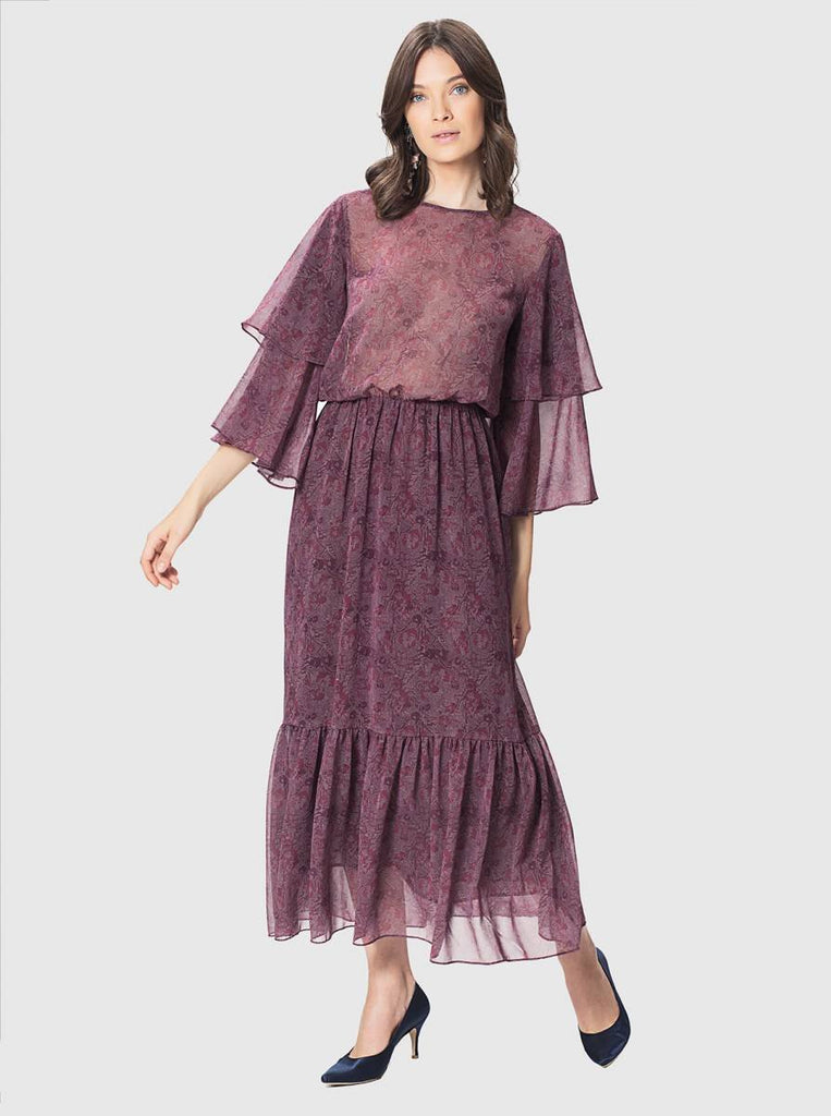Apparel - PATTERNED LONG DRESS