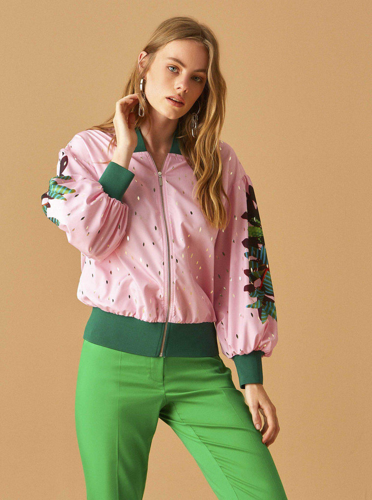 Apparel - PINK BOMBER JACKET