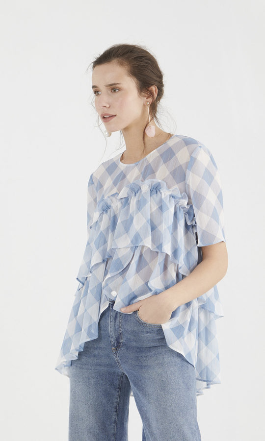 Apparel - PLAID BLOUSE
