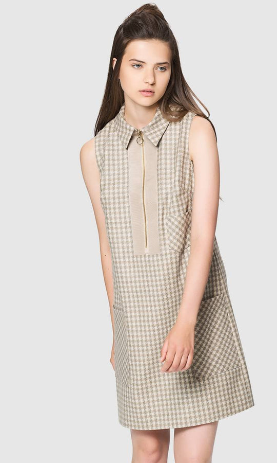 Apparel - PLAID WOOL DRESS