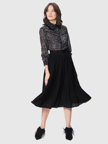 Apparel - PLEATED BLACK SKIRT