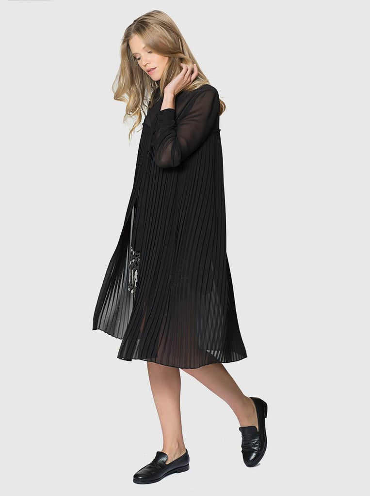 Apparel - PLEATED BLACK TUNIC