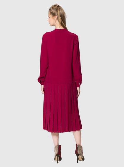 Apparel - PLEATED MIDI DRESS
