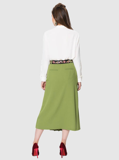 Apparel - PLEATED MIDI SKIRT