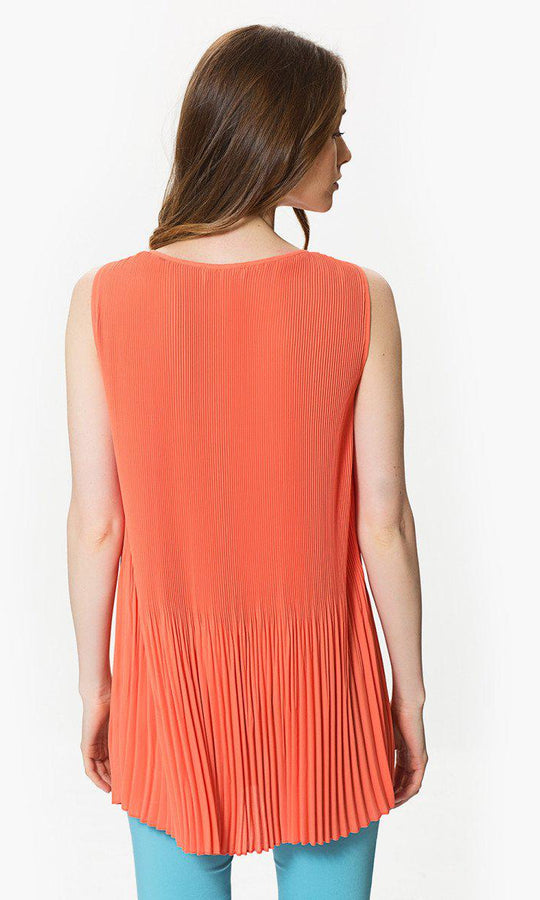 Apparel - Pleated Sleeveless Top