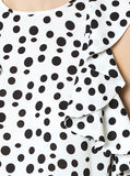 Apparel - Polka Dot Top With Ruffle