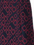 Apparel - Red Print Navy Skirt