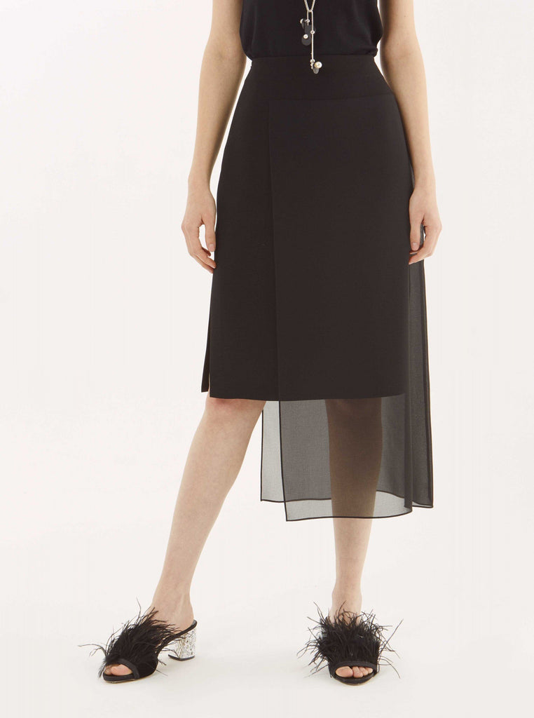 Apparel - SHEER OVERLAY BLACK SKIRT
