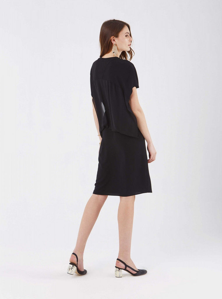 Apparel - SHEER OVERLAY DRESS