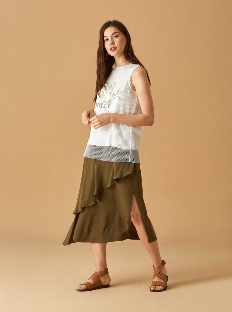 Apparel - SIDE SLIT LAYERED SKIRT