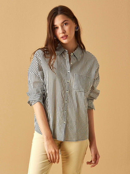 Apparel - STRIPED COTTON TOP