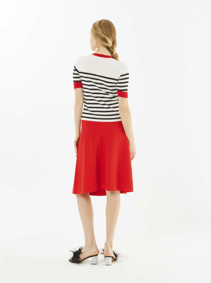 Apparel - STRIPED KNIT TOP