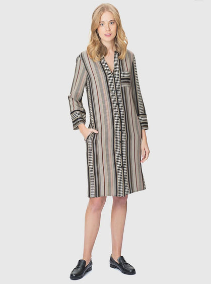 Apparel - STRIPED SHIRT DRESS
