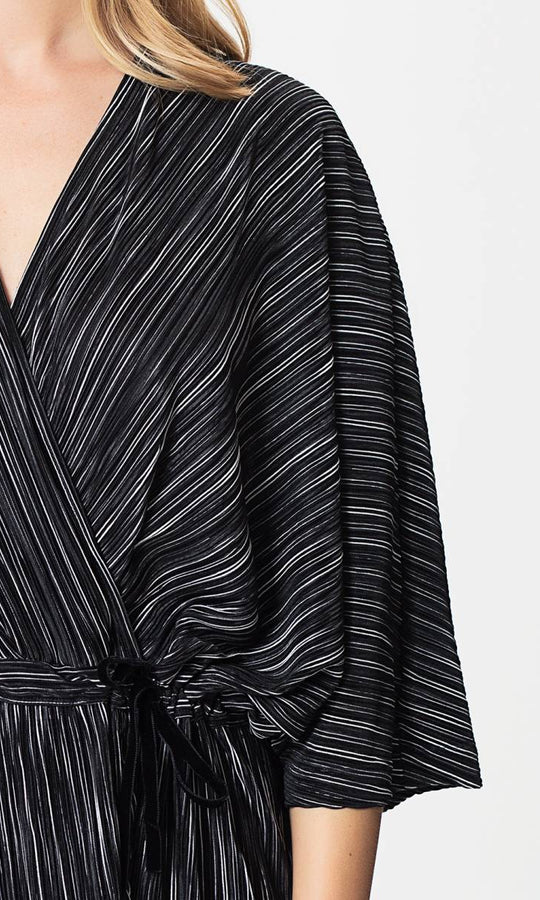 Apparel - STRIPED WRAP DRESS