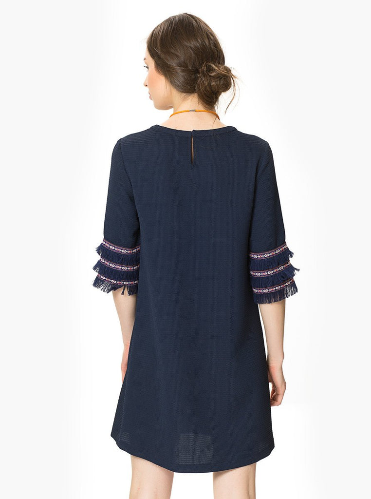Apparel - Tassel Sleeve Shift Dress