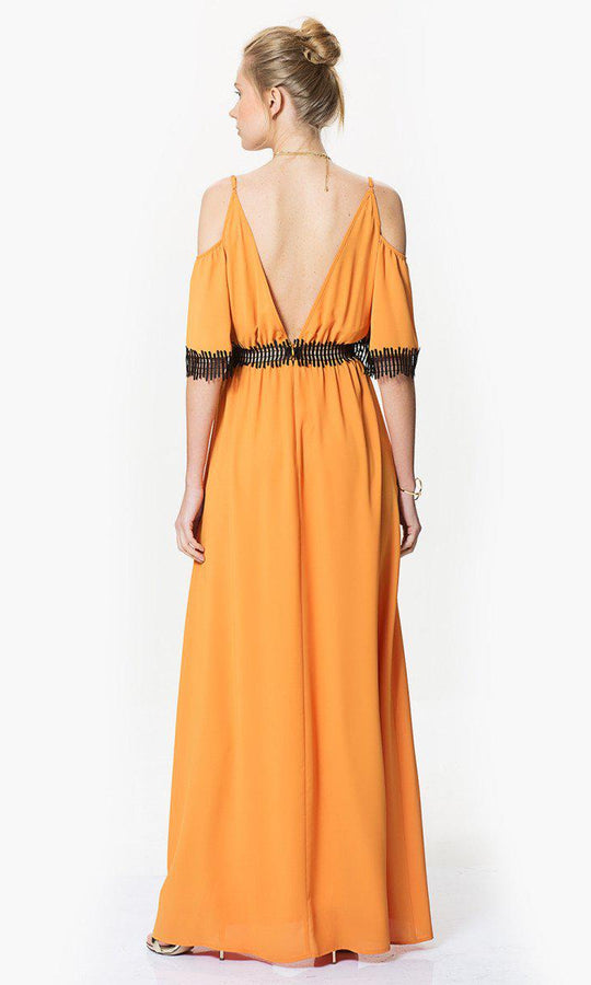 Apparel - Transparent Detailed Open Back Dress