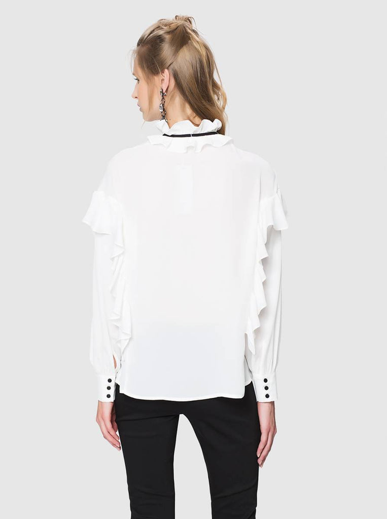 Apparel - WHITE TOP WITH RUFFLES