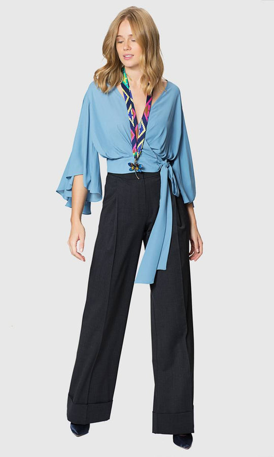 Apparel - WIDE LEG CUFFED PANTS