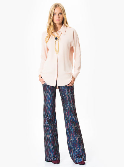 ROMAN USA-Zig-Zag Pattern Pants-