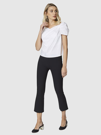 ROMAN USA-Skinny Cropped Flare Pant-