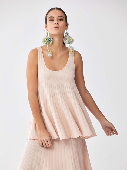 Accordion Pleat Shift Top
